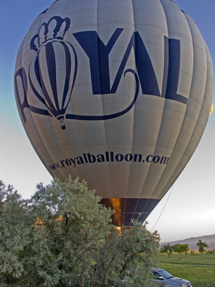 A Royal Balloon about to take off