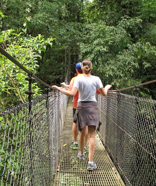 Hanging bridges in Costa Rica give you a bird's eye view of the rainforest