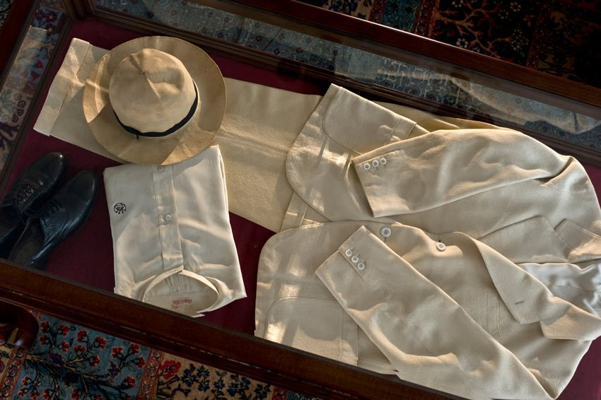 Some of Ataturk's clothing on display in the Ataturk Museum Room, Pera Palace Hotel.