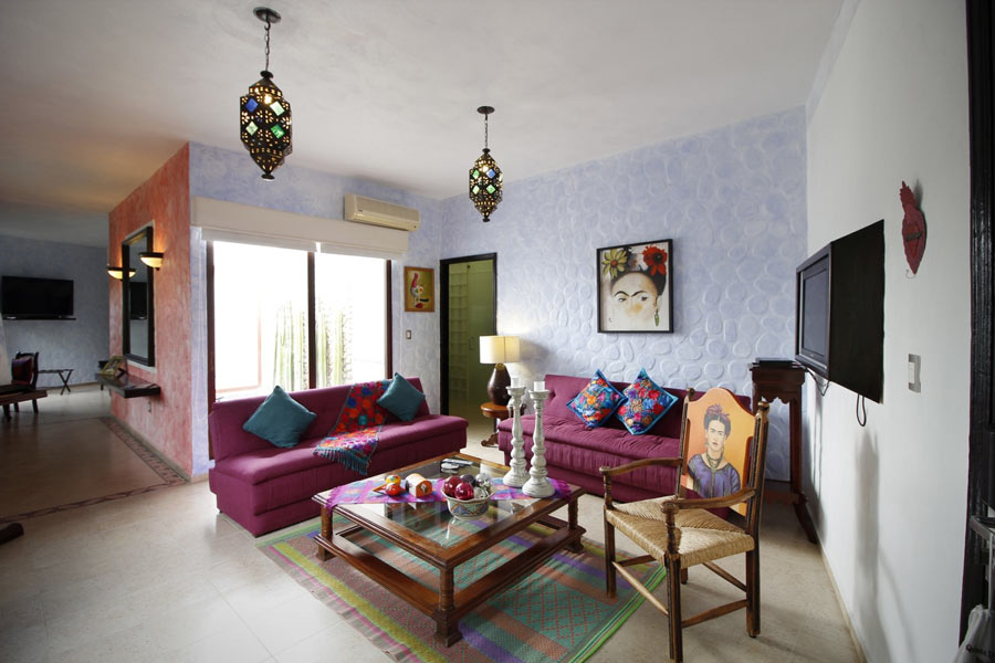 Frida Kahlo suite at Quinta Las Acacias