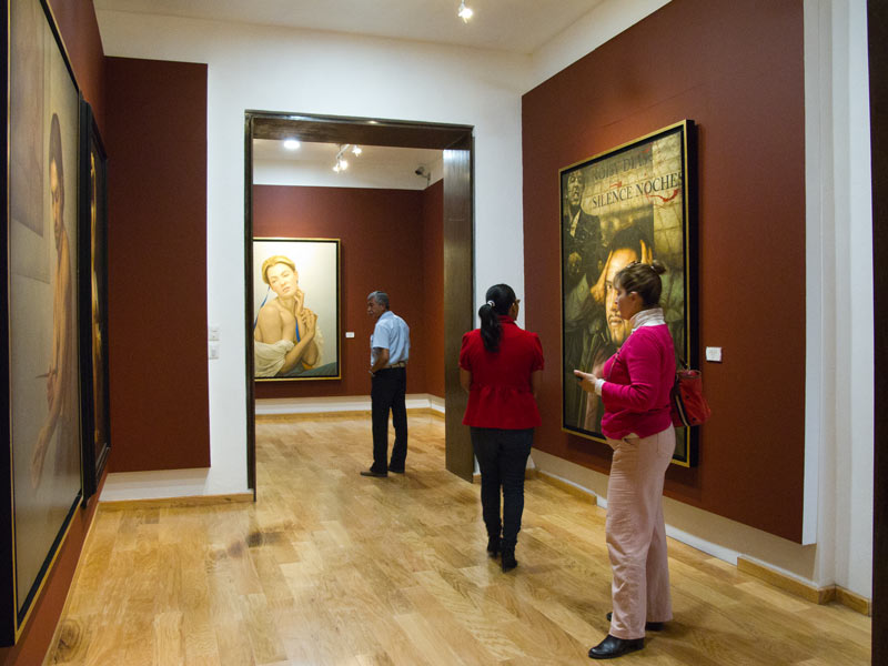 Diego Rivera Museum gallery showing the works of other talented artists