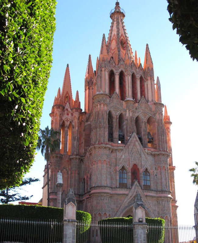 """La Parroquia"" (the parish church) dominates the historical center of San Miguel de Allende"