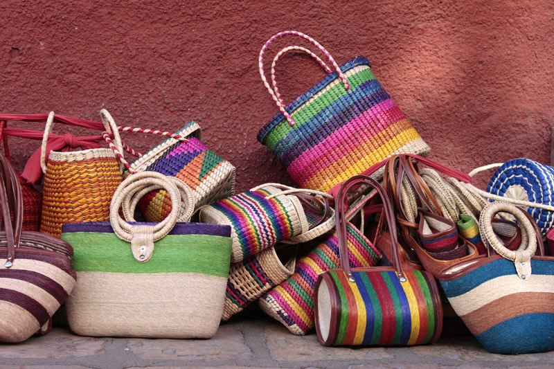The markets of Oaxaca, Mexico, are particularly famous for the intricate textiles, woven products and embroidery on sale.