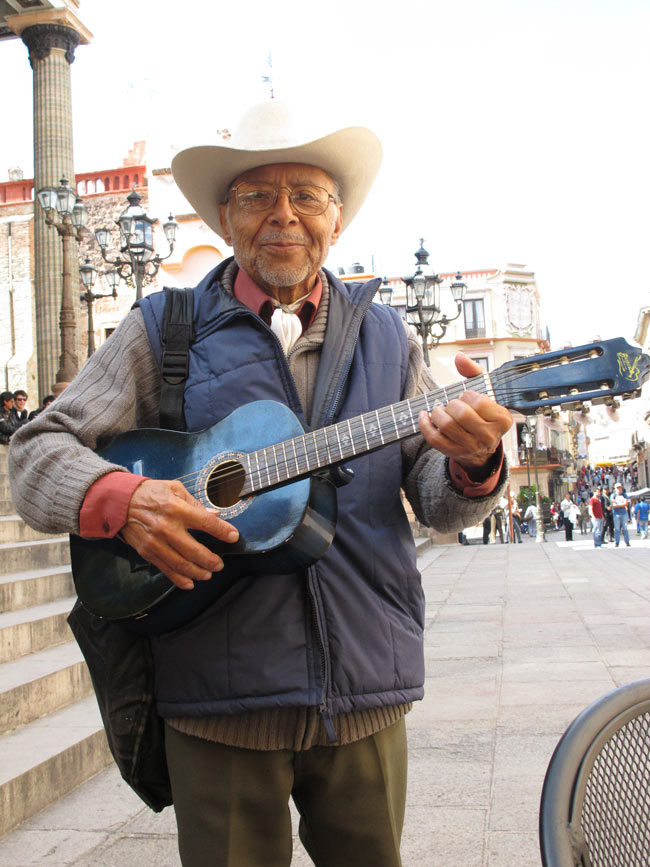 Singing cowboy by the Teatro Juarez in Guanajuato, Mexico