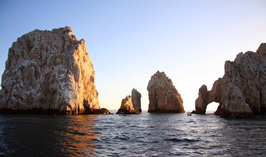 Seeing whales in Cabo on a sunset cruise