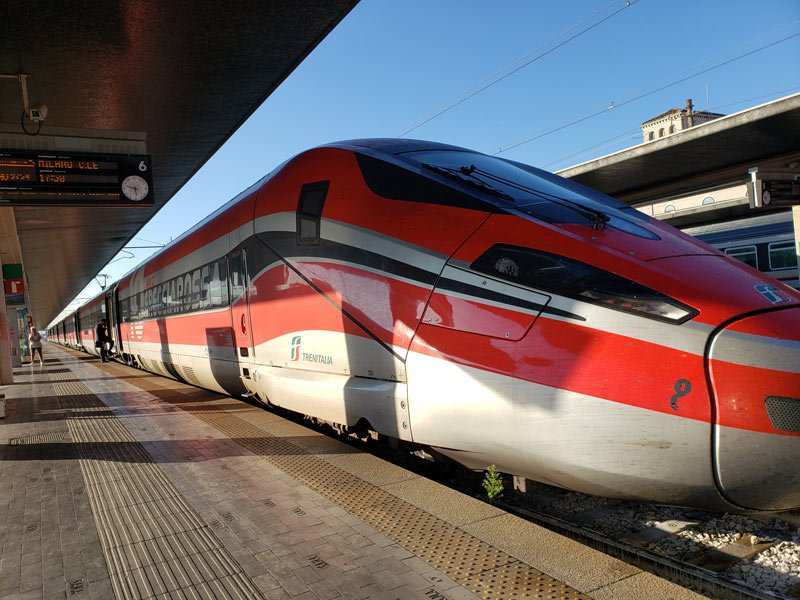 High-speed train in Italy