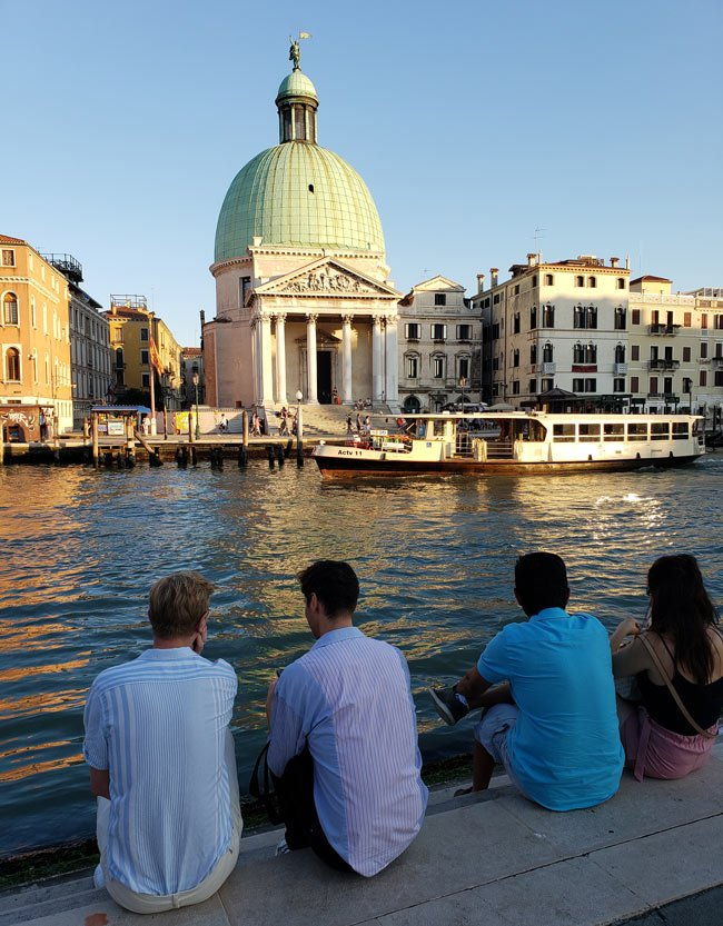 Between 25 and 30 million people visit Venice, Italy, each year.