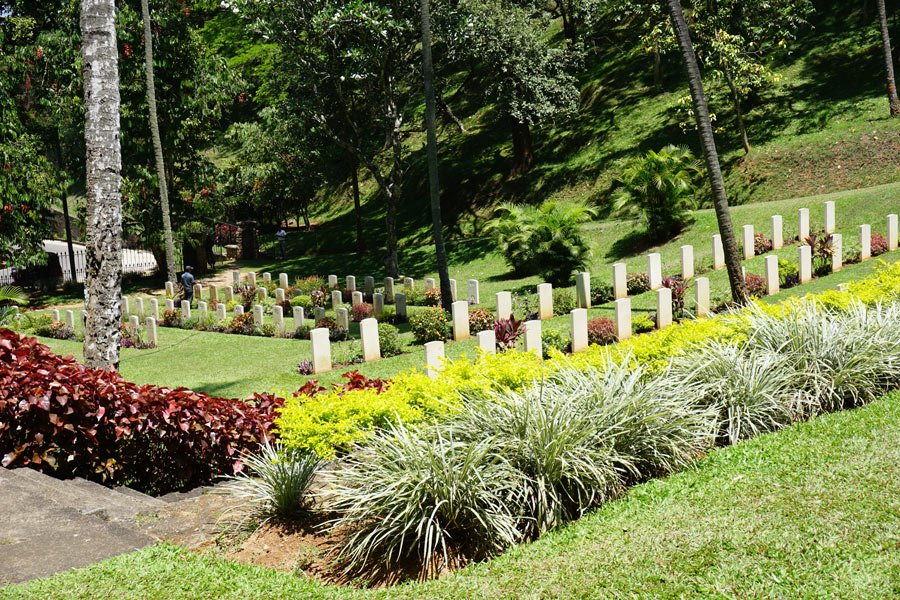 The beautifully kept Kandy War Cemetery