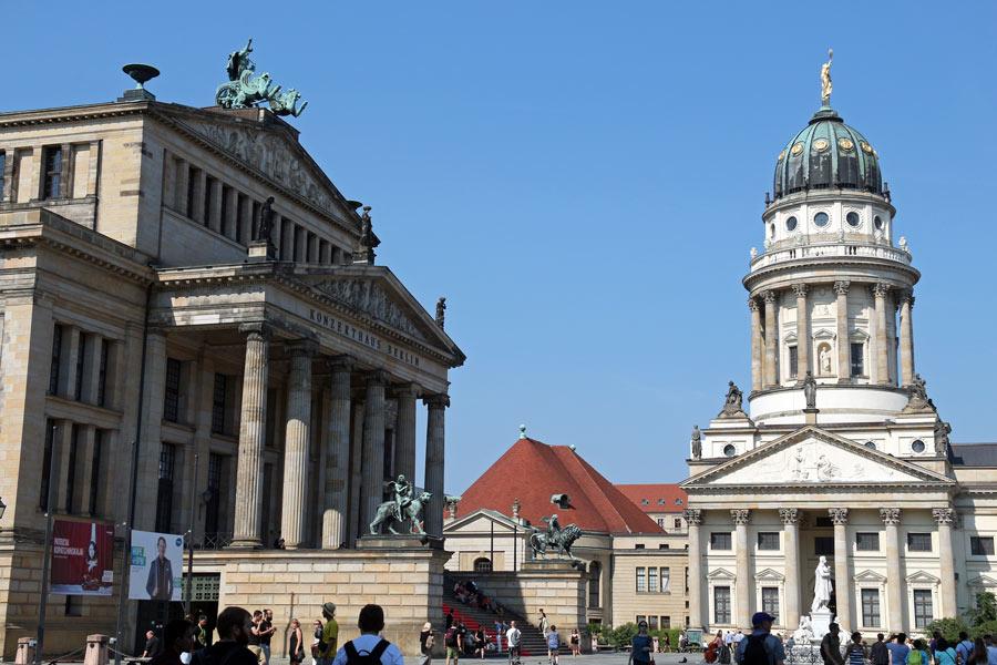 The Gendarmenmarkt is a popular Berlin tourist attraction.