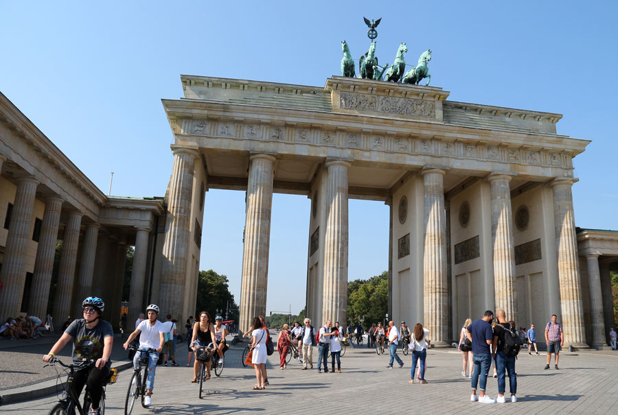 Once a symbol of divided Berlin during the Cold War, the 18th century neoclassical Brandenburg Gate is now a symbol of peace.