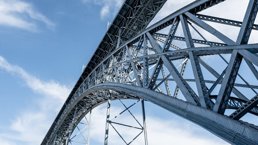 The upper level of the Dom Luis I Bridge is, gulp, 190 feet above the Douro River!