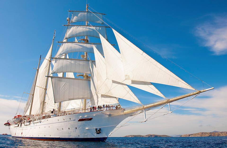 Star Clippers Review: Star Flyer and Star Clipper are identical 4-masted sailing cruise ships (sister ship Royal Clipper is bigger).