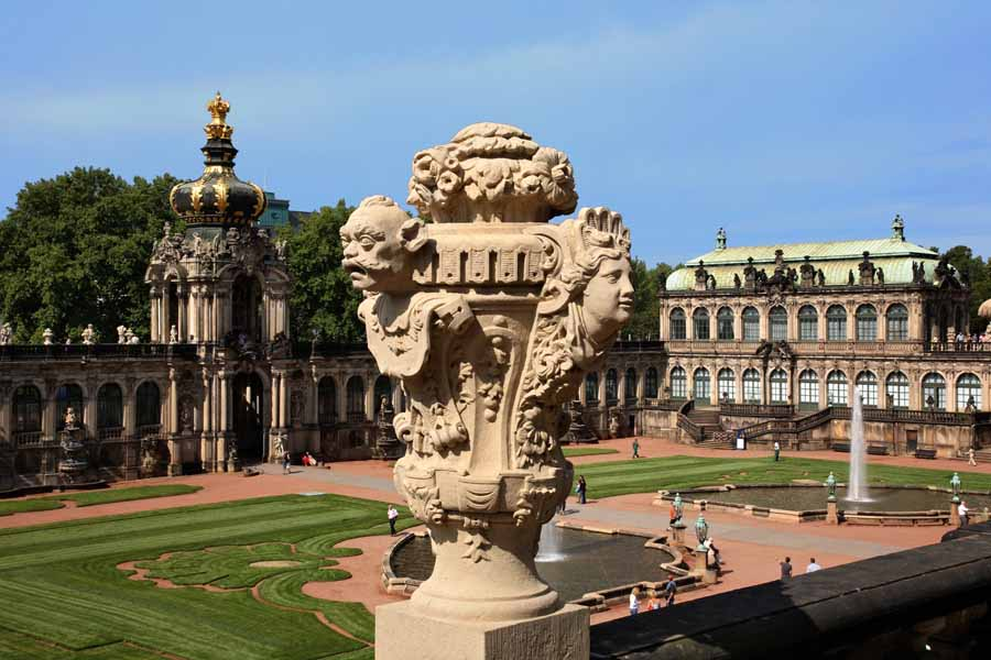 What started as an orangery on an old fortress became the vast Zwinger Palace