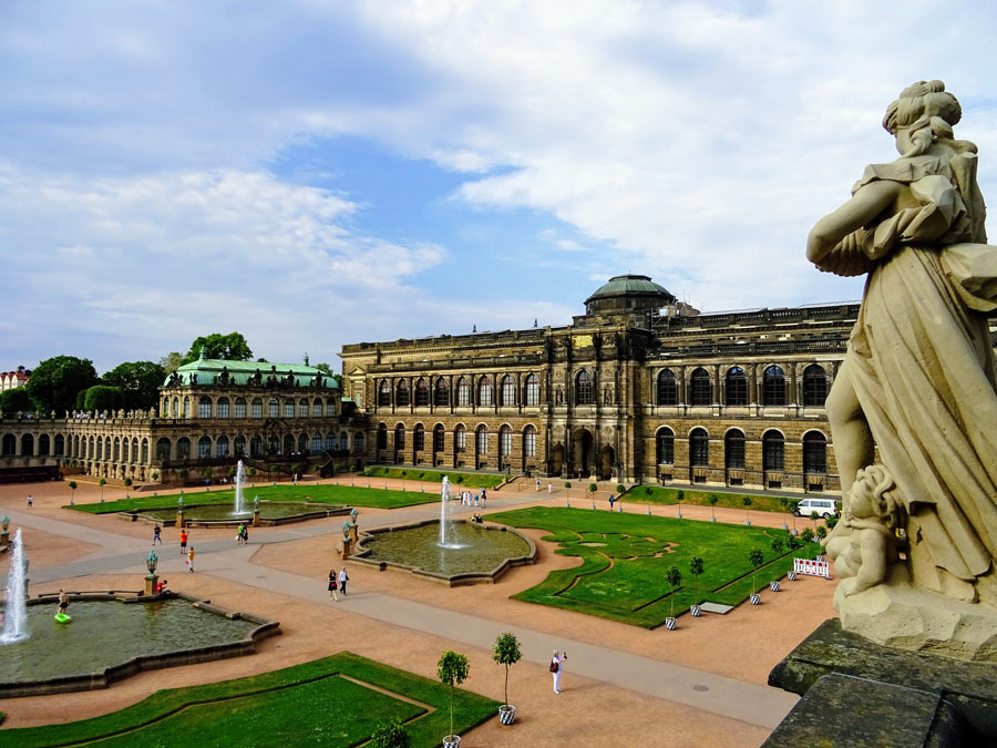 The Zwinger Palace is one of the most famous of the Baroque buildings in Dresden
