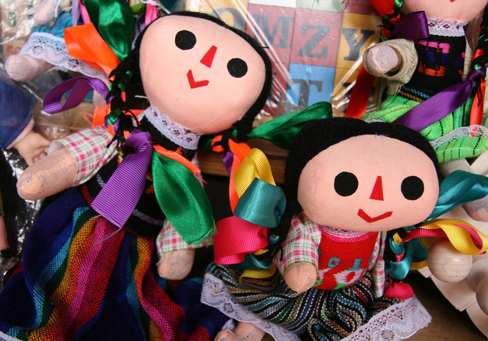 There's not just candy at Morelia's Candy Market; you can buy souvenirs and crafts too.