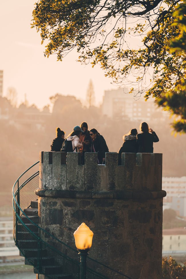 You get gorgeous views of Porto and the Douro River from the Crystal Palace Gardens.