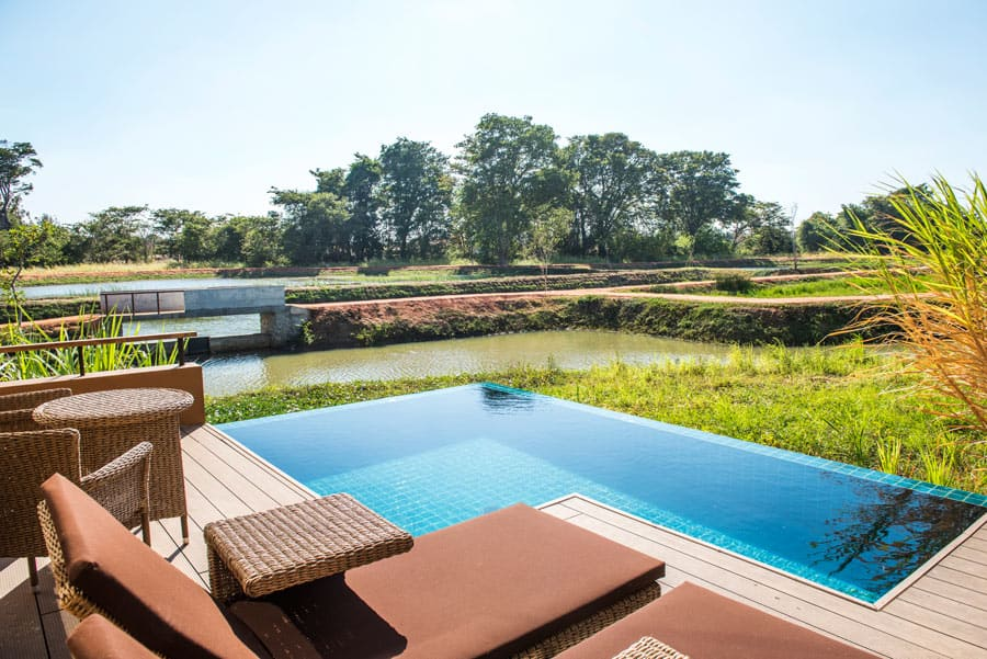 Climb Sigiriya Rock, then cool off with a dip in your own private plunge pool at Water Garden Sigiriya.