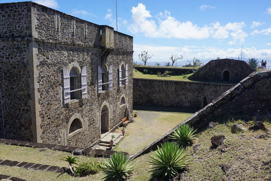 Fort Napoleon on Terre-de-Haute in the Caribbean