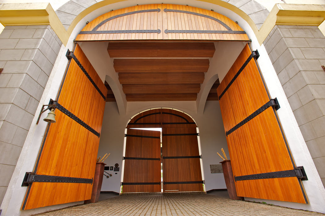 Behind these enormous doors lies one of the best luxury hotels in Galle - the Fortress Resort & Spa