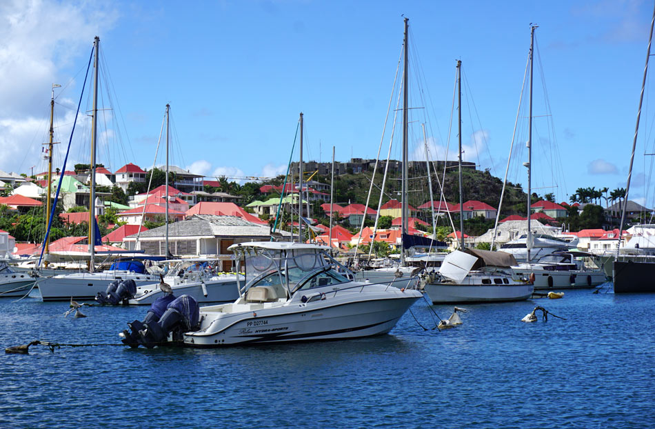 Small yachts, big yachts - Gustavia Harbor is filled with boats
