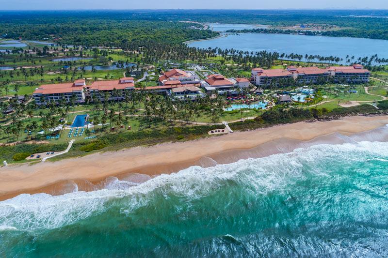 The Shangri-La Hambantota Golf and Spa Resort overlooks a wild beach on Sri Lanka's secluded south coast.
