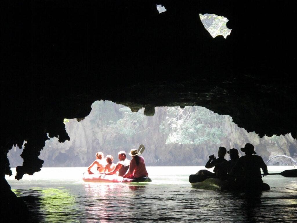 Sea kayaking in Phang Nga Bay, Thailand