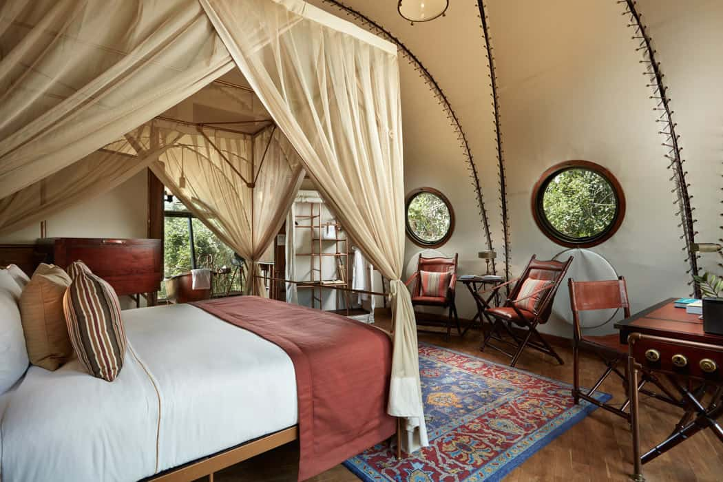 Glamping at Wild Coast Tented Lodge is pretty luxurious.