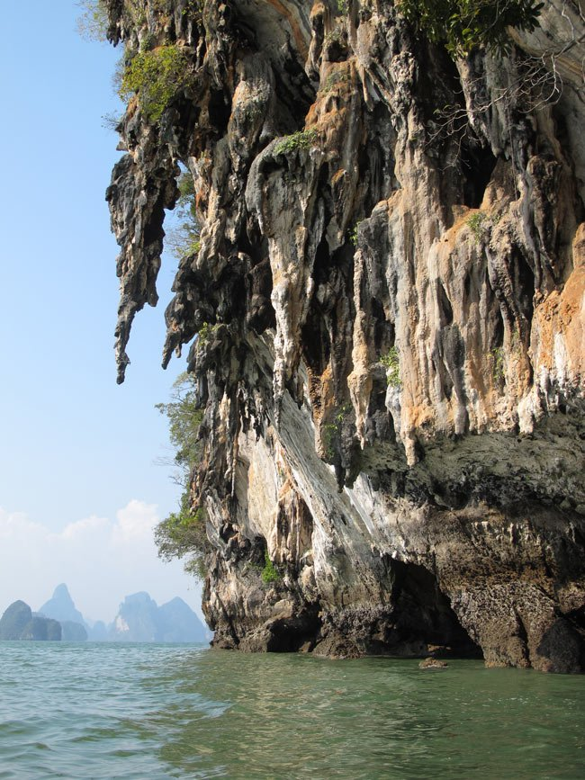 In Phang Nga Bay, Thailand, it's fun to paddle around (and through) weird and wonderful limestone karst islets.