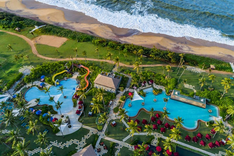 The Shangri-La Hambantota has three large pools: a kid-friendly water park, a family-friendly lagoon-style pool and an adults-only quiet pool.