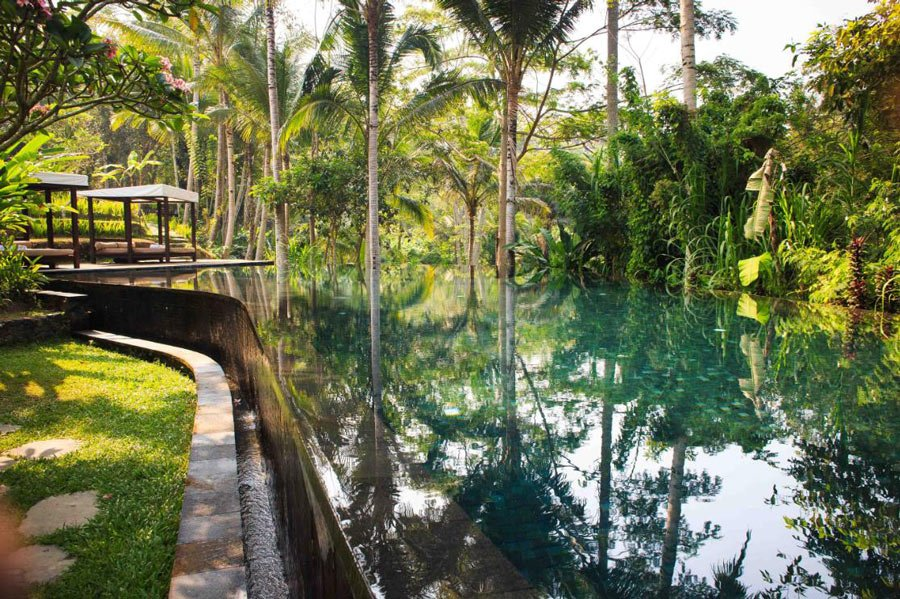 At Kayumanis Ubud, you can swim in your private villa pool, or for a change of scene, do laps in the large resort pool.