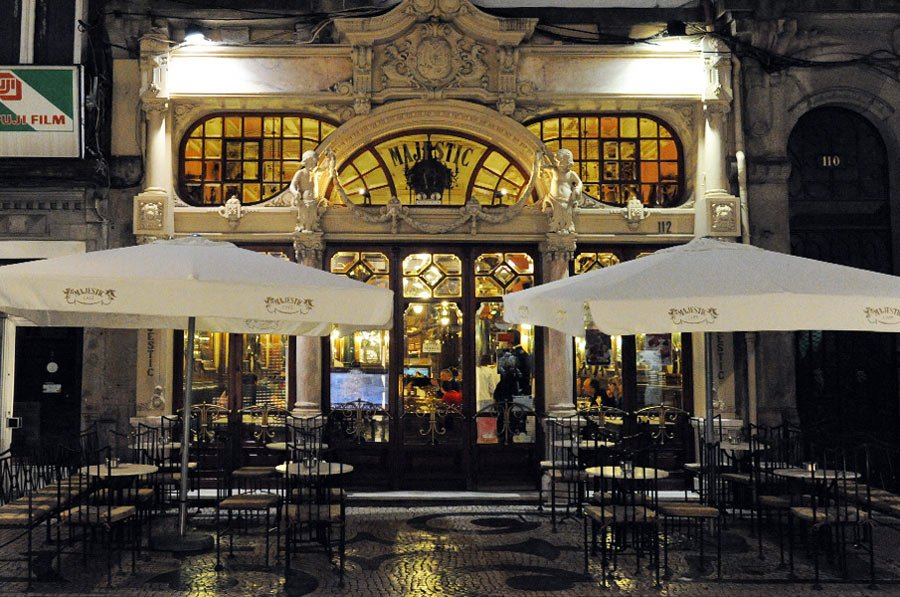 Porto's Majestic Café is a classy place to stop for a shot of caffeine.