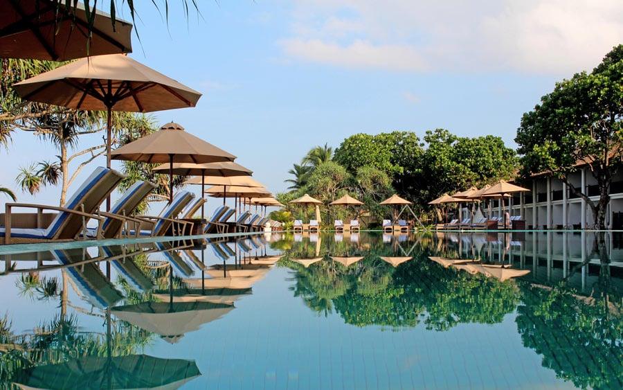 Pool at the Fortress Hotel, Sri Lanka