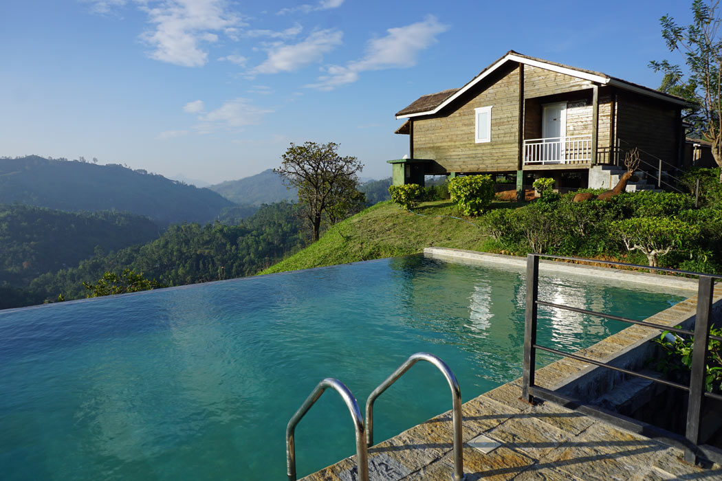 The Secret Ella's small infinity pool is a great place to relax after hiking in the surrounding mountains.