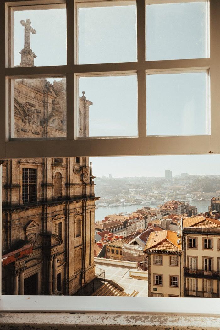View of Porto Through a Window
