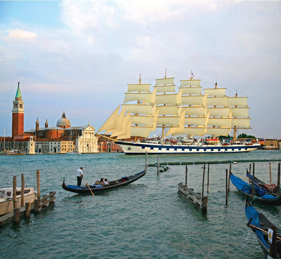 The Royal Clipper in Venice - a beautiful city and a beautiful ship!
