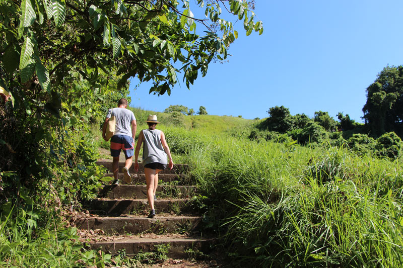 At Kayumanis Ubud, we enjoyed a complimentary guided walk through rice paddies to a local village