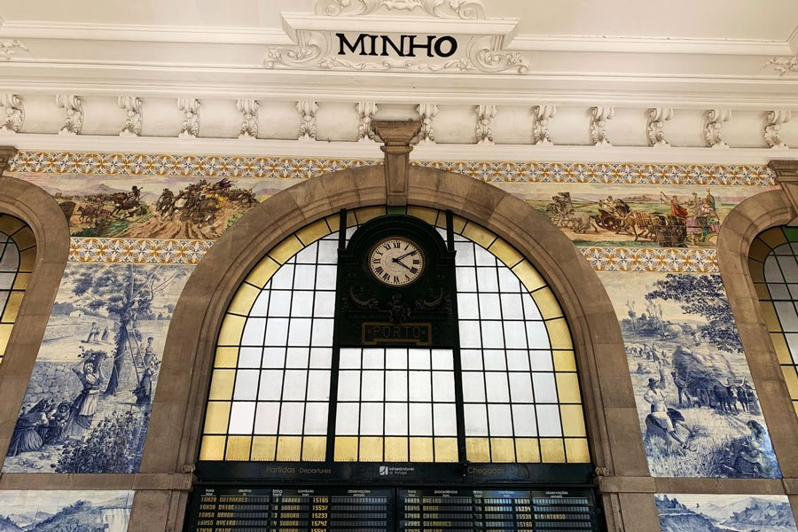 Sao Bento in Porto, Portugal, is one of the most beautiful train stations you're ever likely to see.
