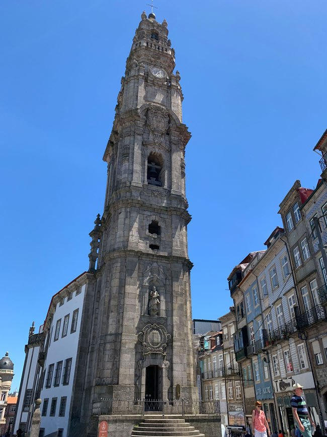 Climb up to the top of Clerigos Tower for panoramic views of Porto.