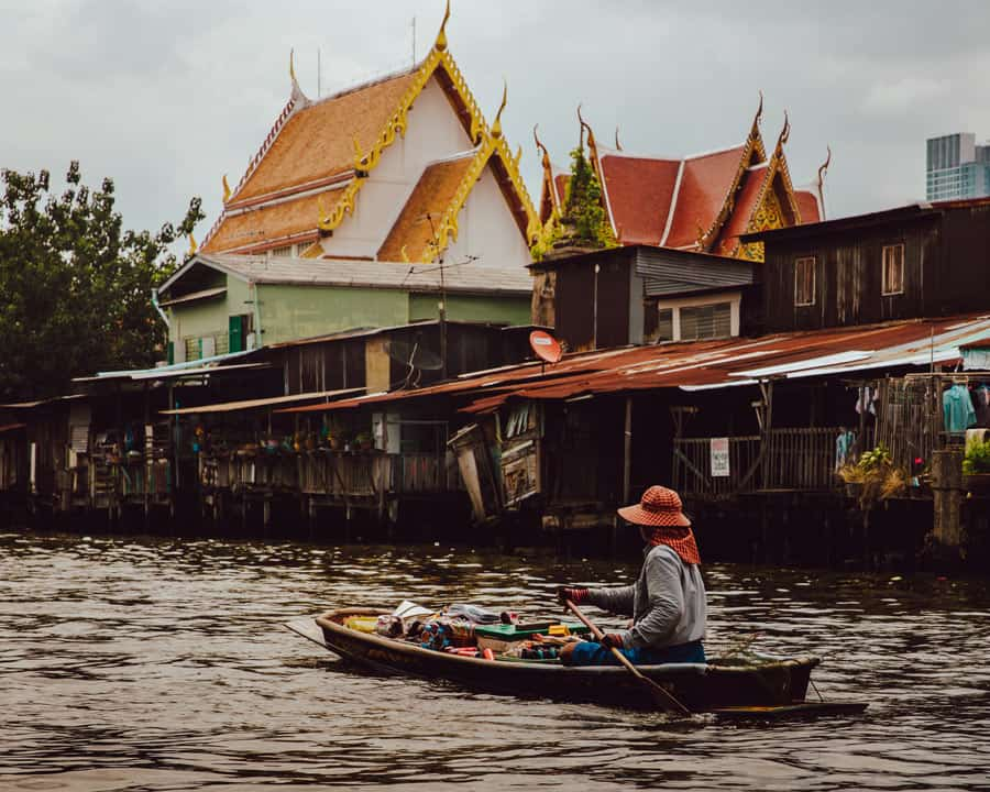 Taking a boat ride along the Chao Phraya River and its web of canals is popular in Bangkok.