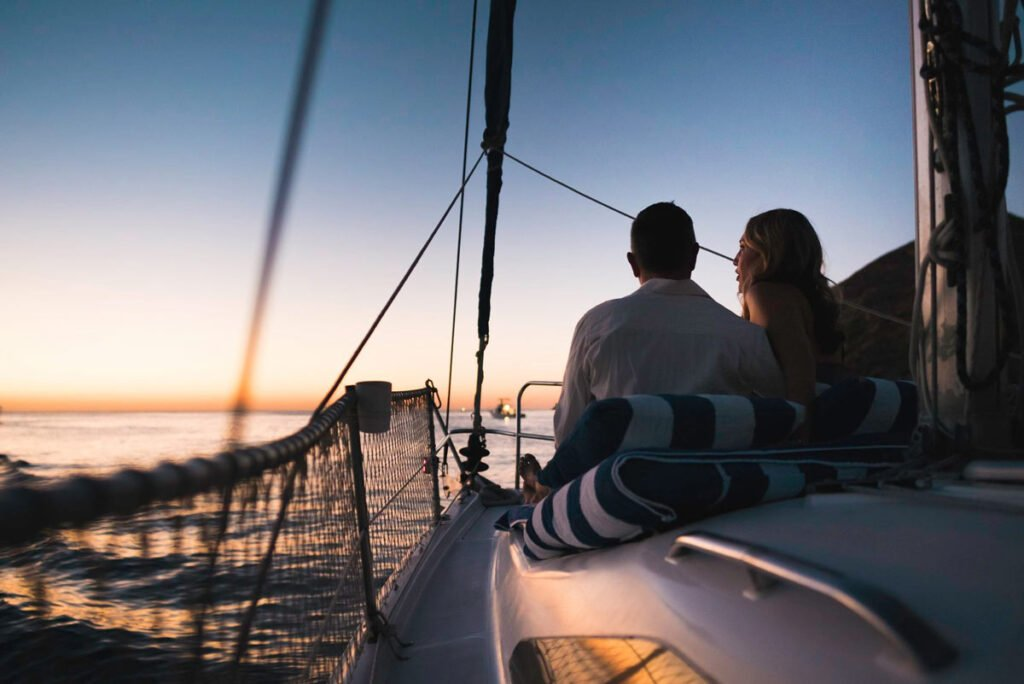 One of the most romantic things to do in Cabo San Lucas for couples is to set sail on a sunset cruise.