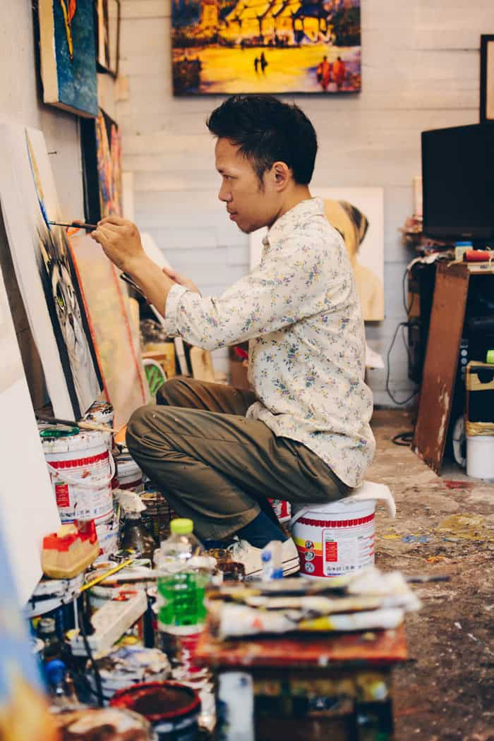 You can hardly hurl your sun hat without hitting one of Chiang Mai's art galleries – the city's art scene is booming.