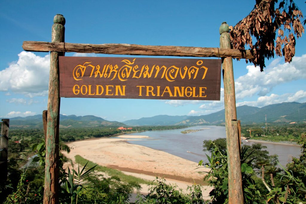 Overlooking the Mekong River at the notorious Golden Triangle