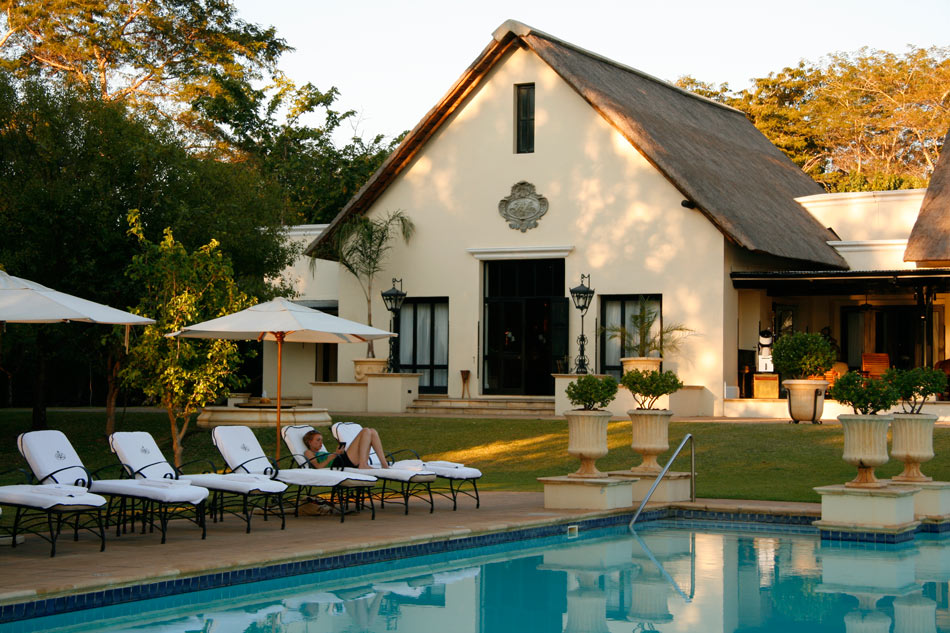 We loved watching the zebras roam around by the swimming pool at The Royal Livingstone.