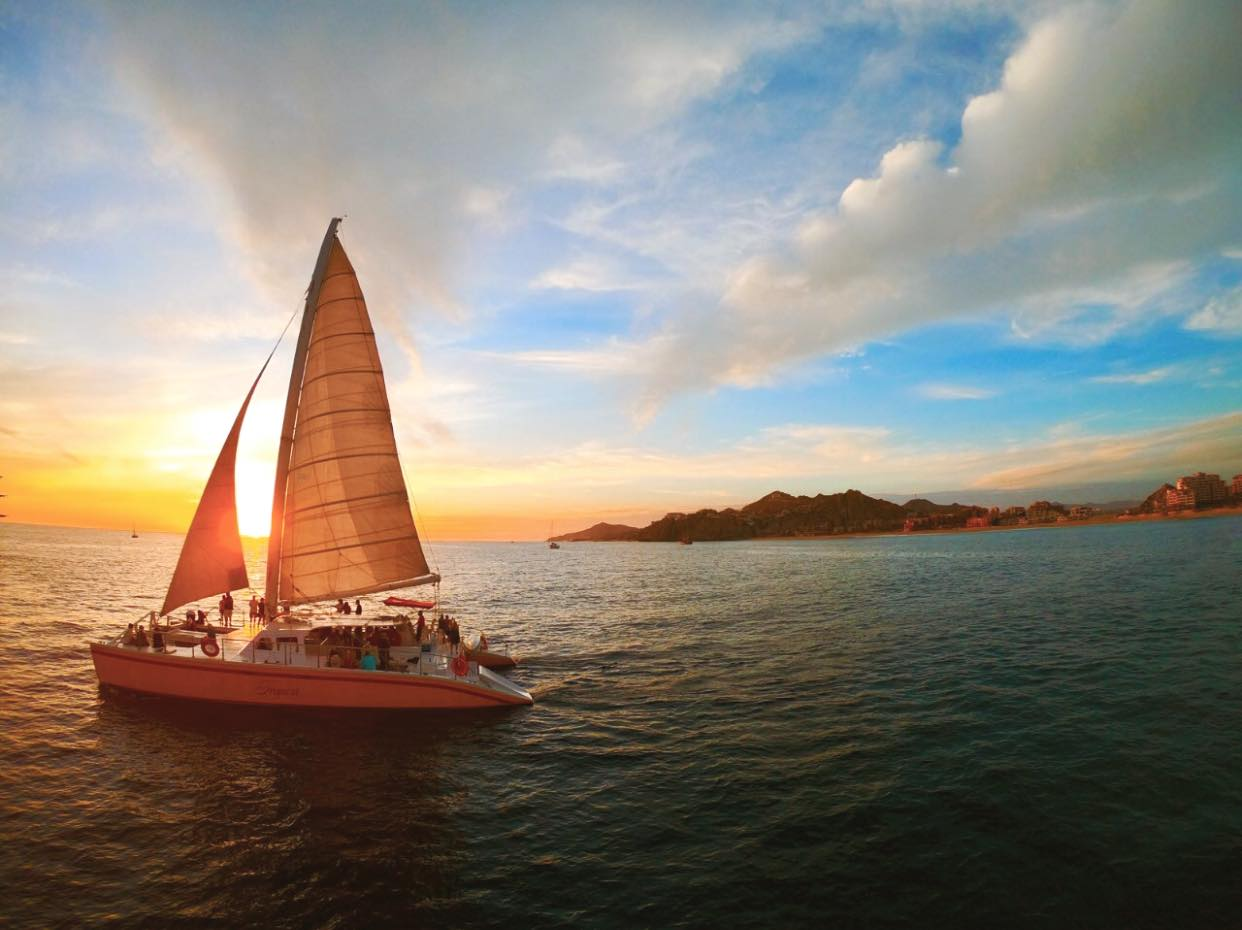 One of the most romantic things to do in Cabo is to go on a sunset cruise.