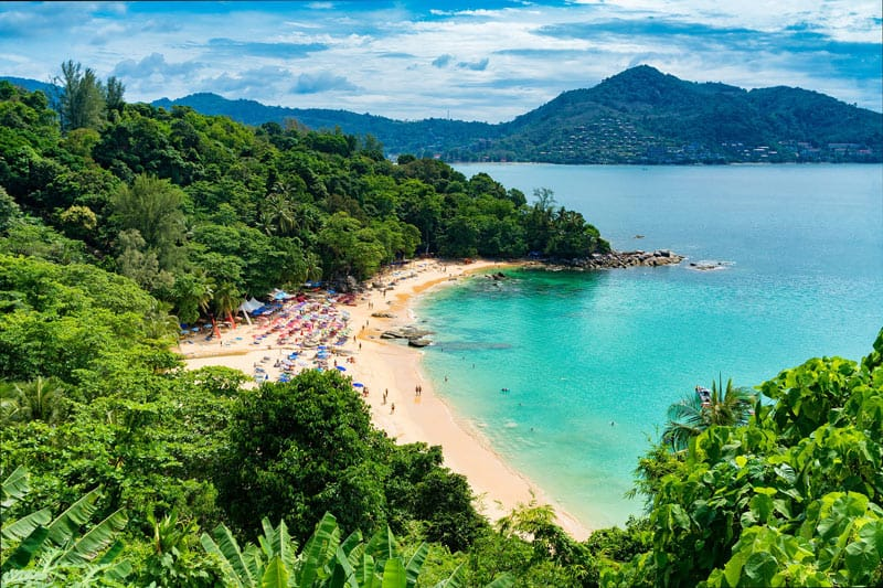 The powdery white beaches of Phuket invite you to relax and soak up the sun.