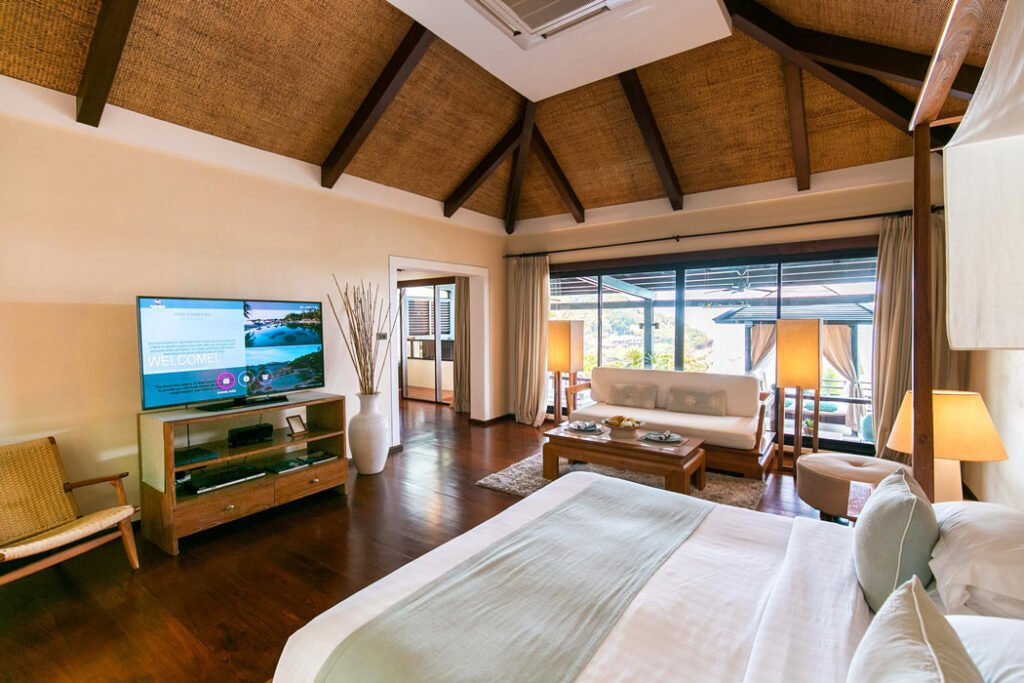 Inside our spacious Tongsai Bay Grand Villa bedroom