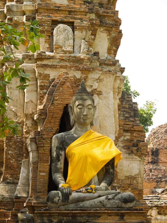 One of the best things to do in Thailand is to bicycle around the ancient temples of Ayutthaya.