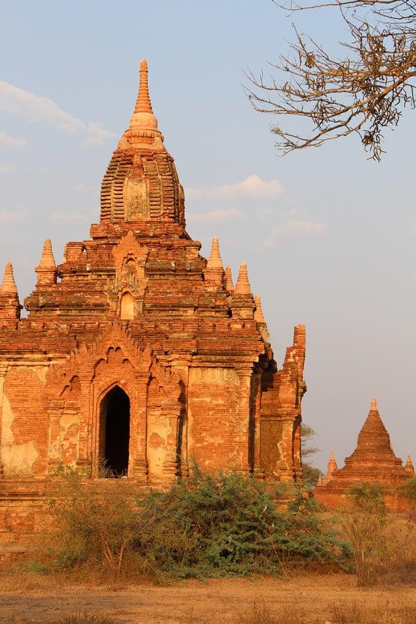 A Bagan temple at sunset