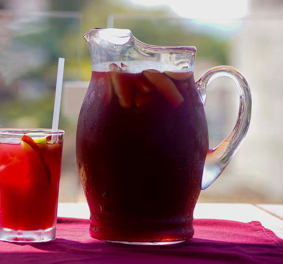 Barcelona Tapas, one of the top restaurants in Puerto Vallarta, offers sangria by the jug or glass.