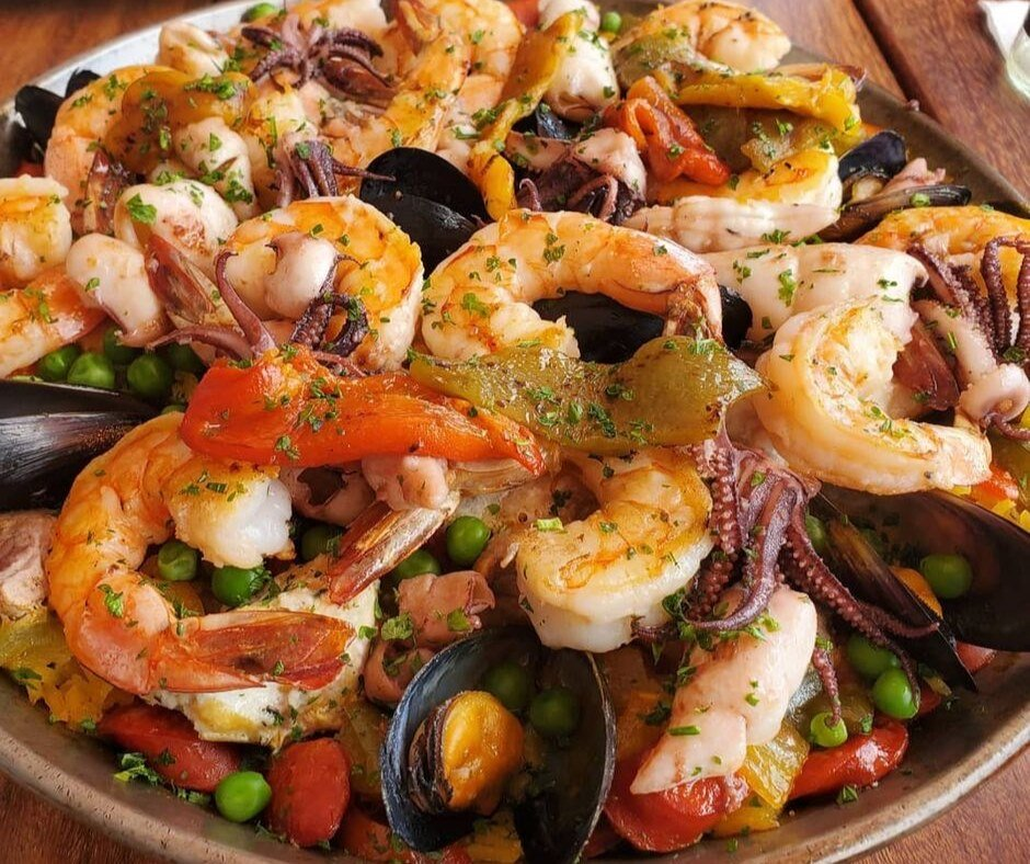 Shrimps are a specialty at Barcelona Tapas in Puerto Vallarta.